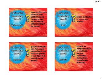 Metamorphic Rocks Flash Cards