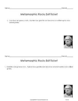 Metamorphic Rocks Lab