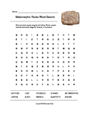 Metamorphic Rocks Word Search (Grades 4-5)