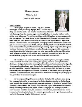 Metamorphoses - Literary Text Test Prep
