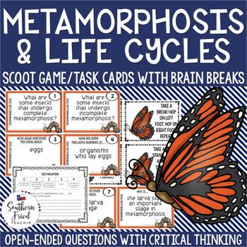 Metamorphosis & Life Cycles Scoot Game/Task Cards