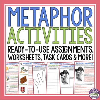 METAPHOR ACTIVITIES, ASSIGNMENTS, TASK CARDS, & MORE!