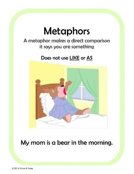 Metaphor Center Activity, Figurative Language