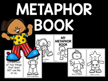 Metaphor Coloring Book - 6 examples; Figurative Language