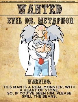 Metaphor Hilarious Classroom Poster   Poster #2