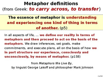 Metaphor: It's NOT just for poetry—it's how we think, learn, and communicate