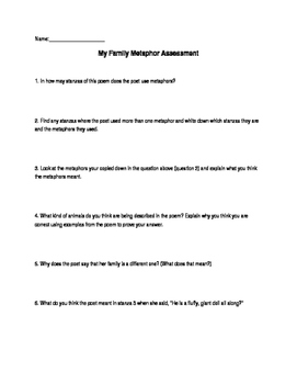 Metaphor Lesson Plan (Day 1)