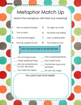 Metaphor Match Up