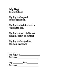 Metaphor Poem activity