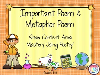 Important Poem and Metaphor Poems  Demonstrate Content Mastery With Poetry