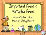 Important Poem and Metaphor Poems  Demonstrate Content Mas