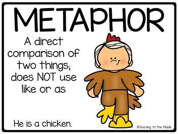 Metaphor Posters; 3 versions; Figurative Language