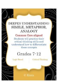 Metaphor Simile Analogy (Figurative Language Practice)