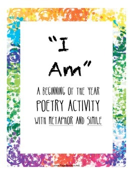 Metaphor Simile Poetry Activity for Beginning of the Year