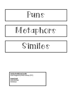 Metaphor Simile Pun Sort