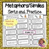 Metaphor/Simile Sorts and Practice #DistancelearningTPT