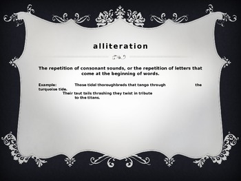 Metaphor, Simile and Alliteration