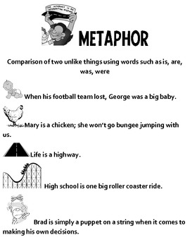 Metaphor Teaching Packet- Everything you need!