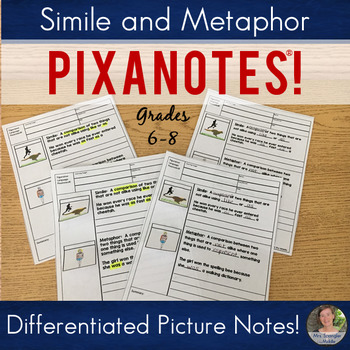 Metaphor and Simile Pixanotes™ (Differentiated Picture Notes)