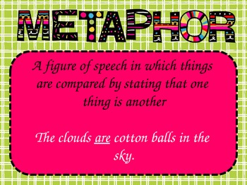 Metaphor and Simile PowerPoint FREEBIE