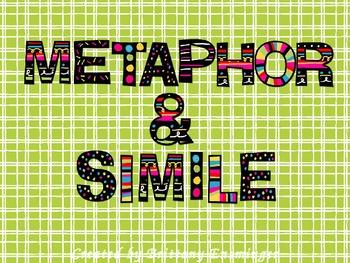 Metaphor and Simile PowerPoint FREEBIE