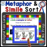 Metaphor and Simile Sorting Game Digital Boom Cards Distan