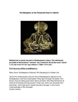Metaphor of the Poisoned Pearl in Hamlet