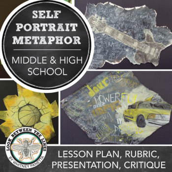 Metaphorical Self Portrait Drawing Lesson: Mixed Media Visual Art, HS or MS