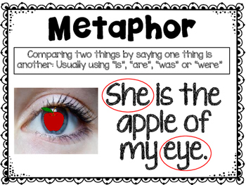 Metaphors Poster and Task Cards