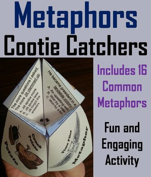 Metaphors Activity/ Figurative Language Foldable Quiz 3rd, 4th, 5th, 6th Grade