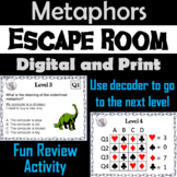 Metaphors: ELA Escape Room - English  (Figurative Language Activity)
