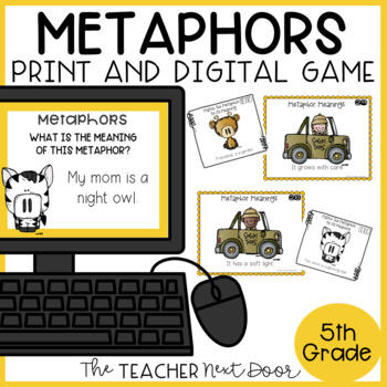 Metaphors Game | Metaphors Center | Metaphor Activities