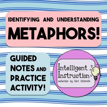 Metaphors: Guided Notes, Practice Questions, and Close Reading Poetry Activity