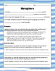 Metaphors: Guided Notes, Practice Questions, and Close Rea
