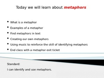 Metaphors Power Point