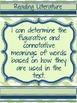 Metaphors-Reference Sheet, Bookmark, Learning Target