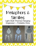 Metaphors & Similes: Light Bulb Themed Hanging Organizer + Foldable Note