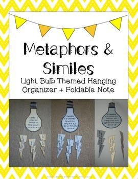Metaphors & Similes: Light Bulb Themed Hanging Organizer +