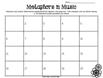 Metaphors and Music