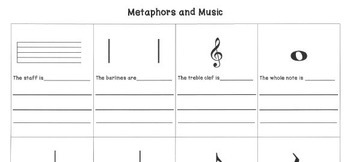 METAPHORS & MUSIC Lesson Plan with Worksheets