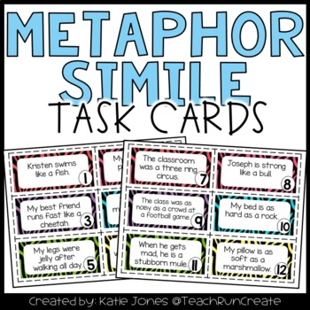 Metaphors and Similes Task Cards