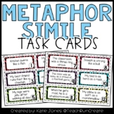 Figurative Language - Metaphors and Similes Task Cards