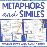 Similes and Metaphors Worksheets and Task Cards Figurative Language
