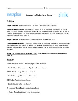 Metaphors and Similes: Let's Compare!