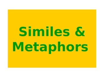 Metaphors and Similes lesson