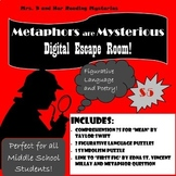 Metaphors are Mysterious: Figurative Language Digital Escape Room- Middle School