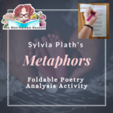 Metaphors by Sylvia Plath Foldable Poetry Analysis Activit
