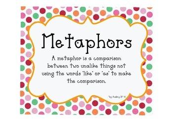 Metaphors creative writing, Language Arts
