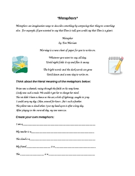 Metaphors for Elementary Students