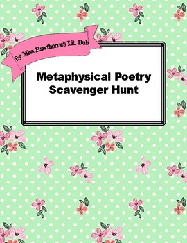 Metaphysical Poetry Scavenger Hunt